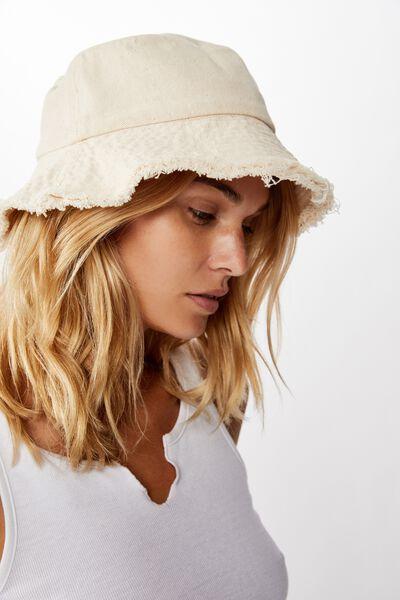 Bianca Bucket Hat, STONE FRINGE