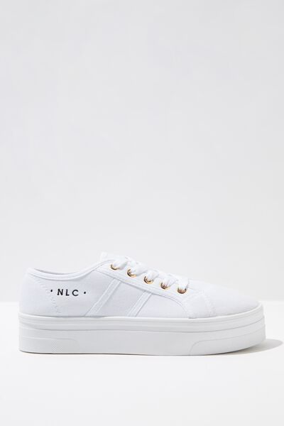 Personalised Willow Platform Sneaker, BRIGHT WHITE