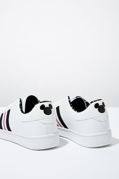 Mickey Cathryn Sneaker, WHITE MICKEY LCN