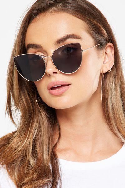 Sherry Sunglasses, GOLD/SMOKE LENS