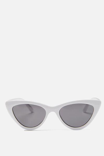 Narrah Short Frame Cateye, SHINY WHITE/SMOKE