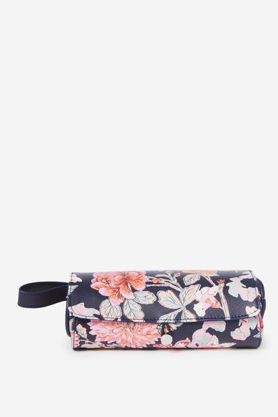 Roll Up Brush Cos Case, FLORAL
