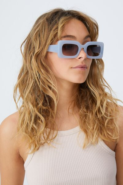 Gigi Square Sunglasses, DUSK BLUE