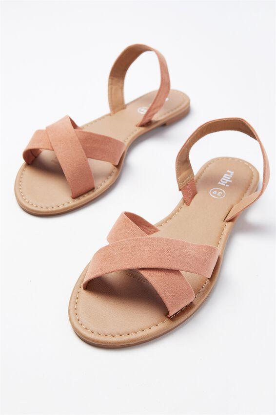 Everyday Banting Crossover Sandal, FUDGE MICRO