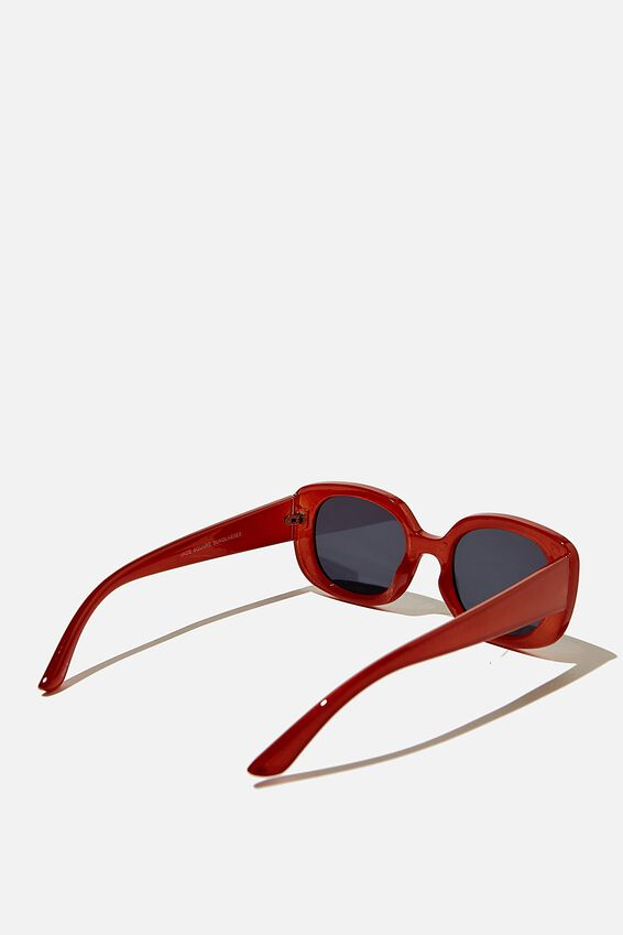 Jade Square Sunglasses, RUST
