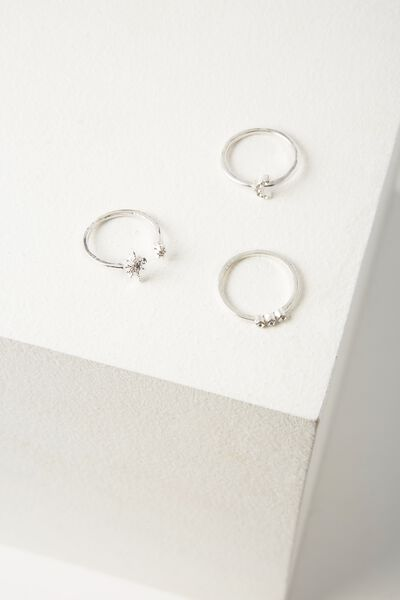 Rome Ring Set, SILVER