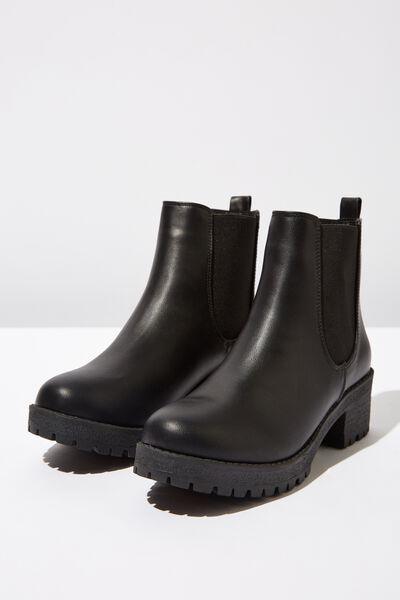 Kenickie Ankle Boot, BLACK