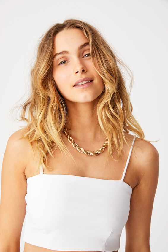 Cayley Chunky Rope Chain, GOLD ROPE CHAIN