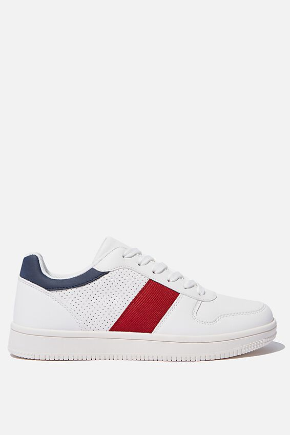 Alba Retro Low Rise, WHITE RED NAVY