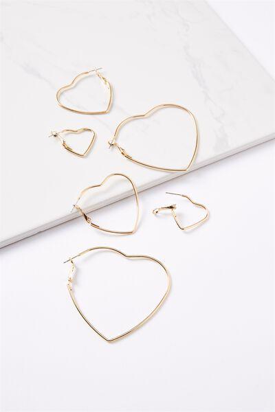 Mia Graduated Hearts Core Multi Pack, GOLD