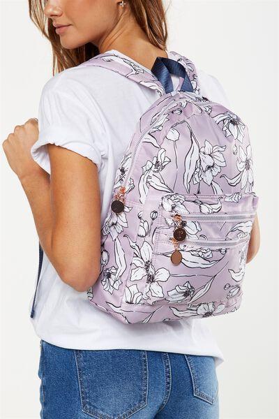 Explorer Backpack, LILAC FLORAL