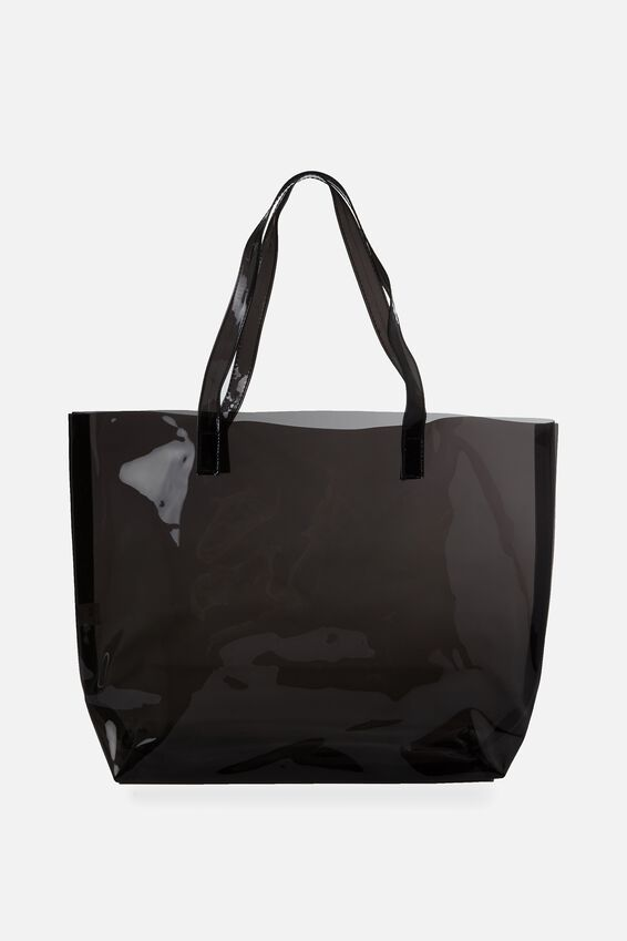 Crystal Clear Tote, BLACK