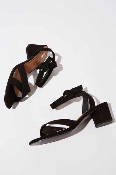 Skye Low Block Heel, BLACK MICRO