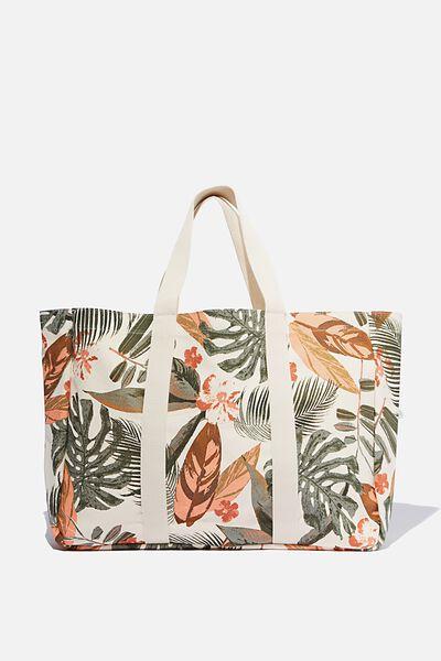 Bondi Beach Bag, PALM PRINT