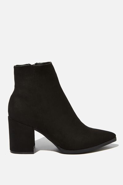 Amina Heeled Dress Boot, BLACK MICRO