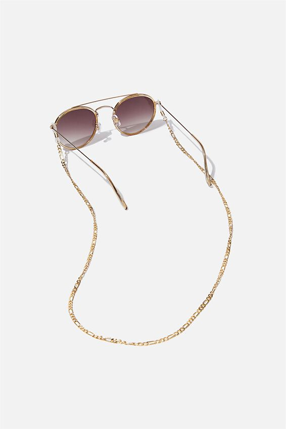 Gigi Glasses Chain, GOLD CURB CHAIN