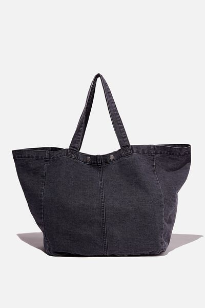 Denim Dreaming Tote, SUPER WASH BLACK