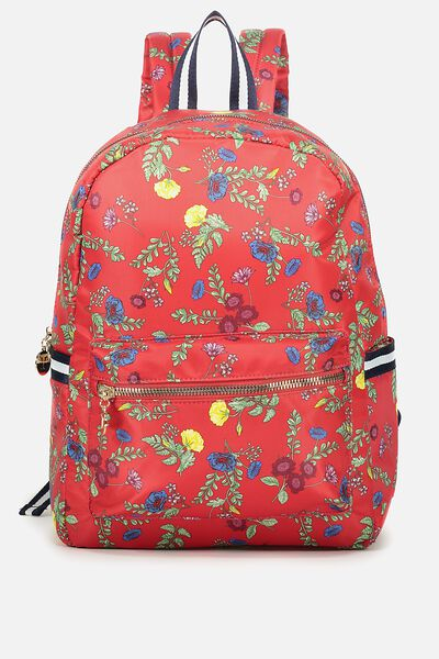 Traveller Backpack, RED FLORAL