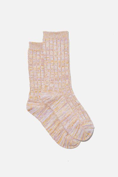 Cosy Sock, RETRO YELLOW MARLE