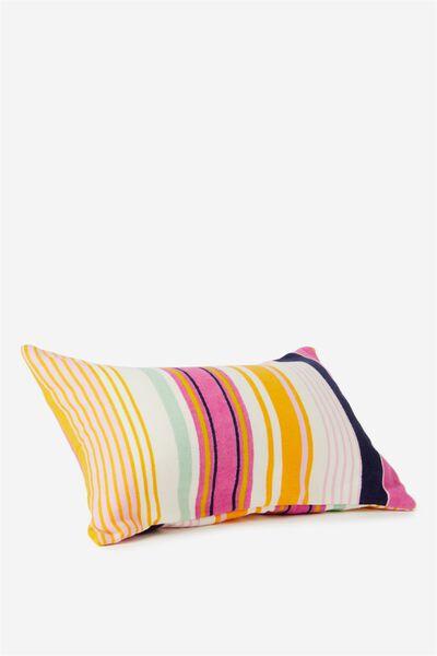 Waikiki Inflatable Pillow, PINK MULTI STRIPE