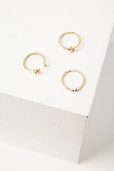 Rome Ring Set, GOLD
