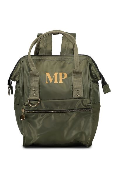 Personalised Blaze Backpack, KHAKI/GOLD