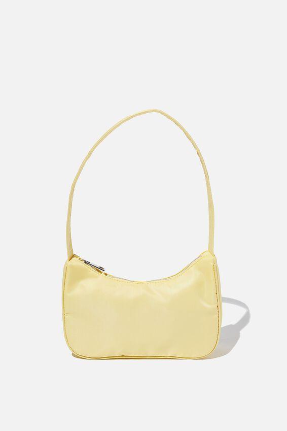 Nylon Underarm Bag, LEMON