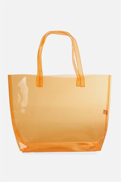 Crystal Clear Tote, ORANGE