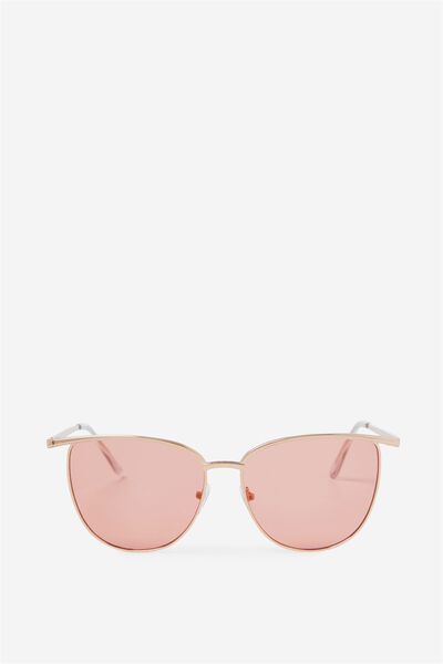 Phoenix Brow Bar Sunglasses, ROSE GOLD/ROSE GOLD