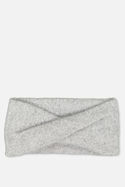 Sarah Knit Headband, GREY MARLE