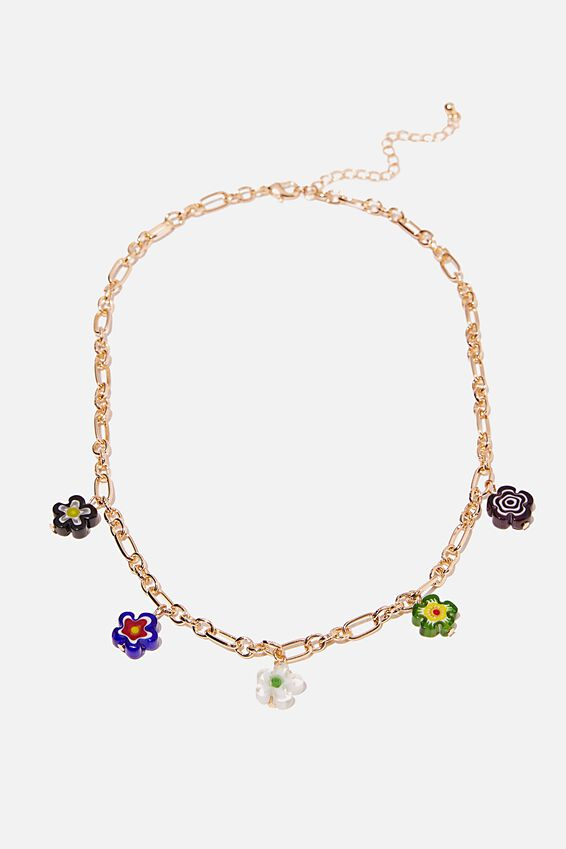 Holiday Statement Necklace, FLOWER
