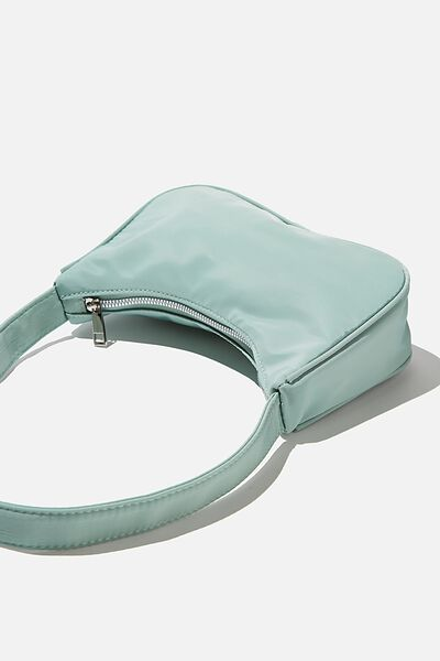 Nylon Underarm Bag, SPRING MINT