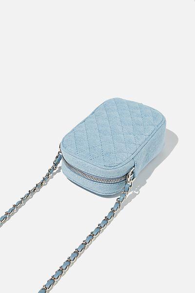 Hailey Mini Quilted Cross Body Bag, BURLEIGH BLUE