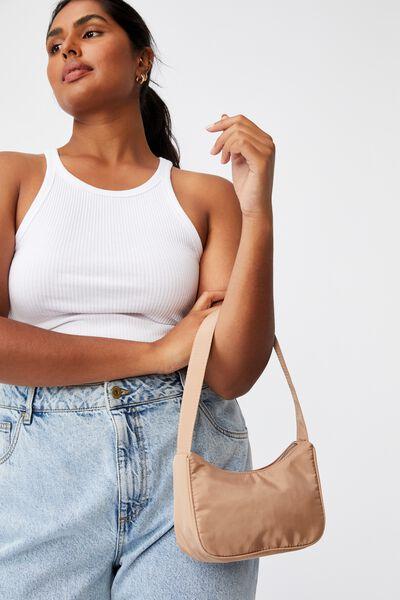 Nadia Underarm Bag, BROWN TAUPE
