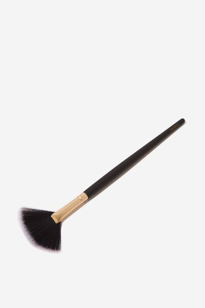 Fan Brush, BLACK/GOLD
