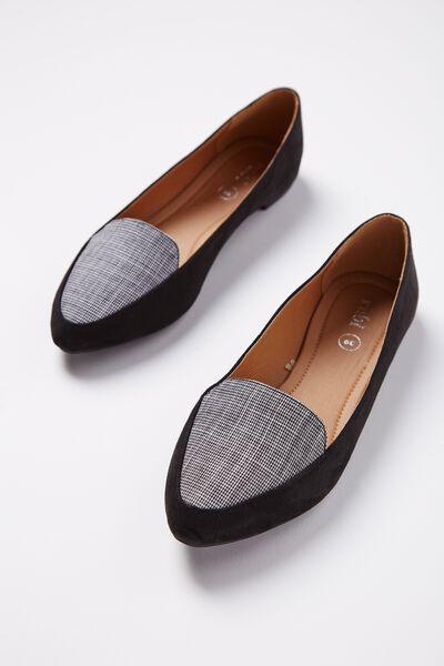 Peta Point Loafer, BLACK CHECK MULTI