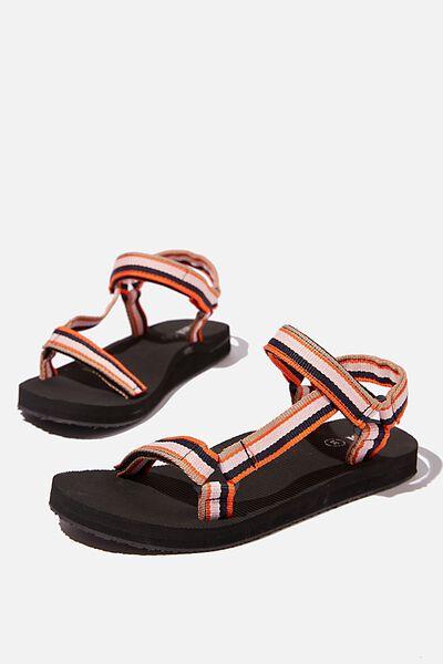 Stormy Sporty Sandal, MELON STRIPE