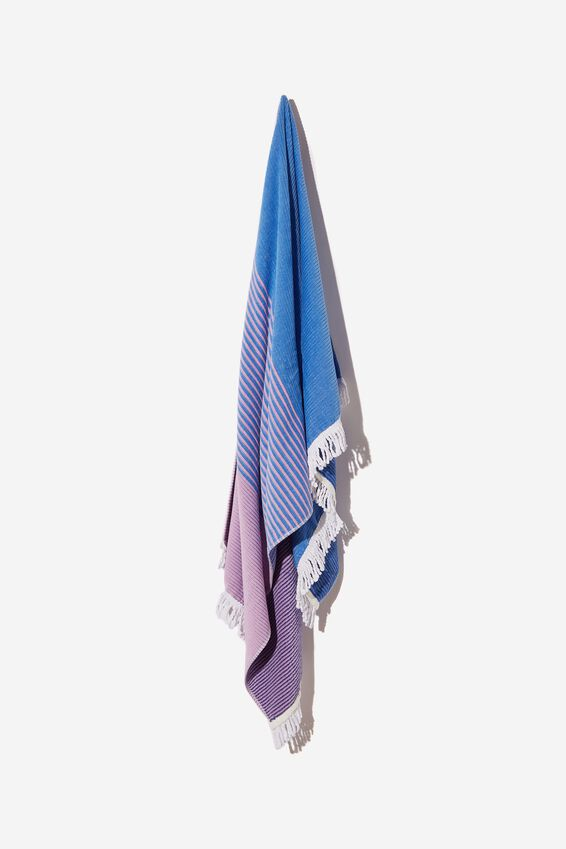 Bondi Rectangle Towel, LILAC COLOUR BLOCK