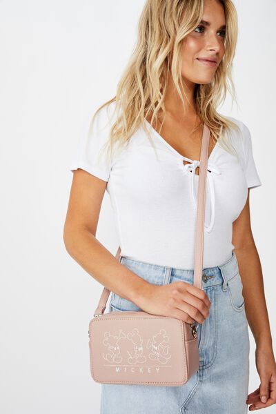 Stevie Boxy Cross Body Bag, LCN MICKEY BLUSH