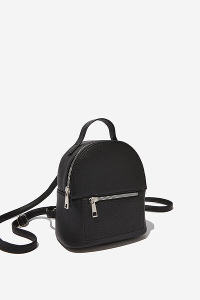Cara Mini Backpack, BLACK PEBBLE