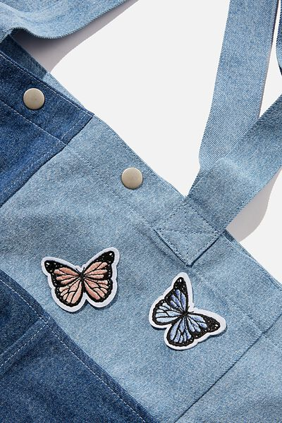 2Pk Embroidered Patches, FEMME BUTTERFLY