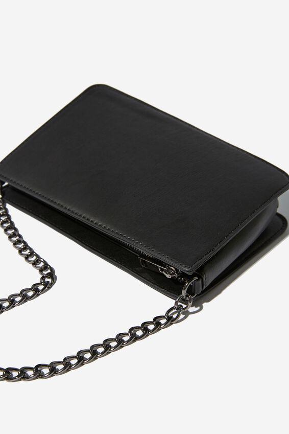 In Chains Cross Body Bag, BLACK