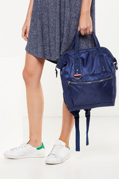 Blaze Backpack, NAVY/CORAL