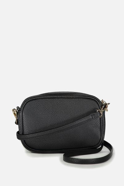 Cameron Cross Body Bag, BLACK