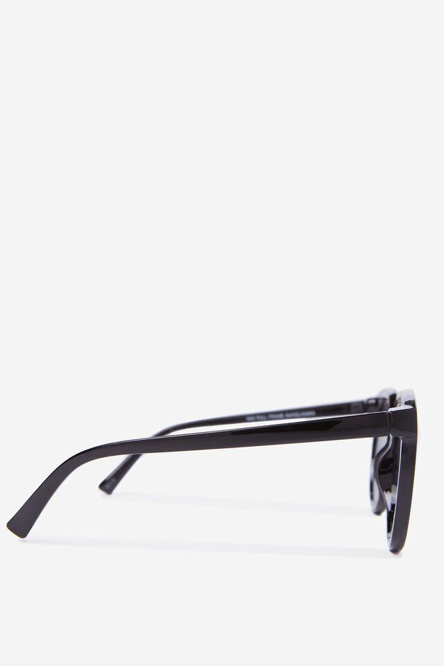 Mia Full Frame Sunglasses, BLACK
