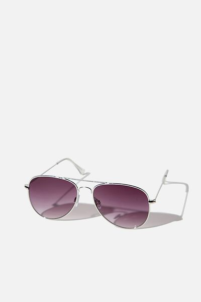 Arabella Metal Sunglasses, SILVER