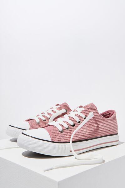 Jodi Low Rise Sneaker 1, MISTY ROSE WIDE CORD