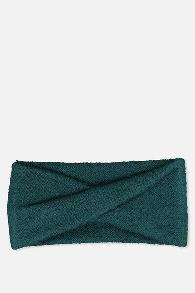 Sarah Knit Headband, DEEP TEAL