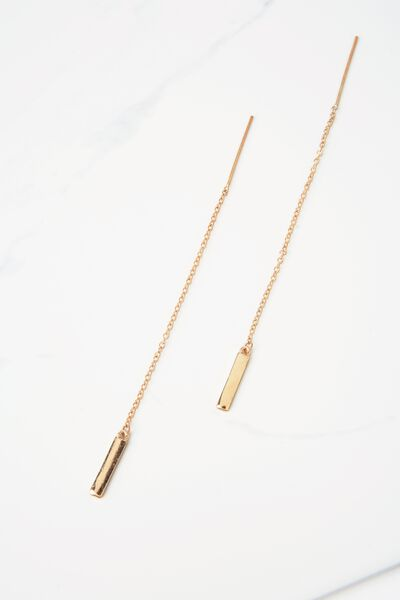 Richmond Chain Earrings, GOLD