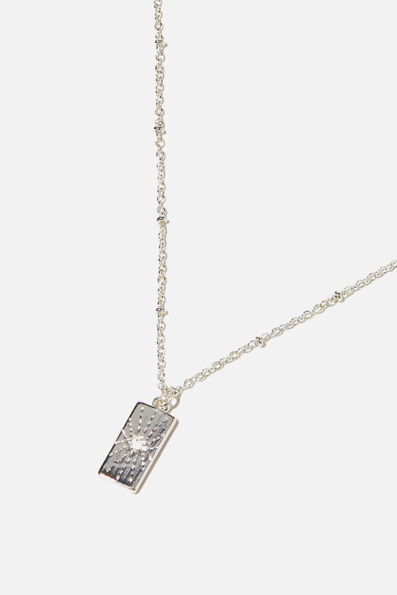 Brighter Days Pendant Necklace, MYSTICAL TAG SILVER